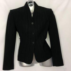 Calvin Klein high collar rows of stitching blazer